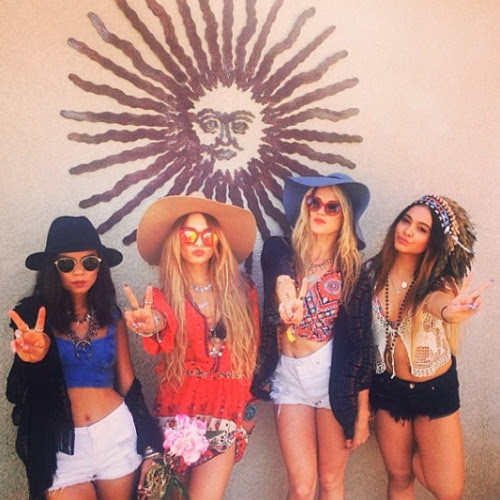 Vanessa Hudgens hits the second weekend of Coachella with her friends and sis Stella