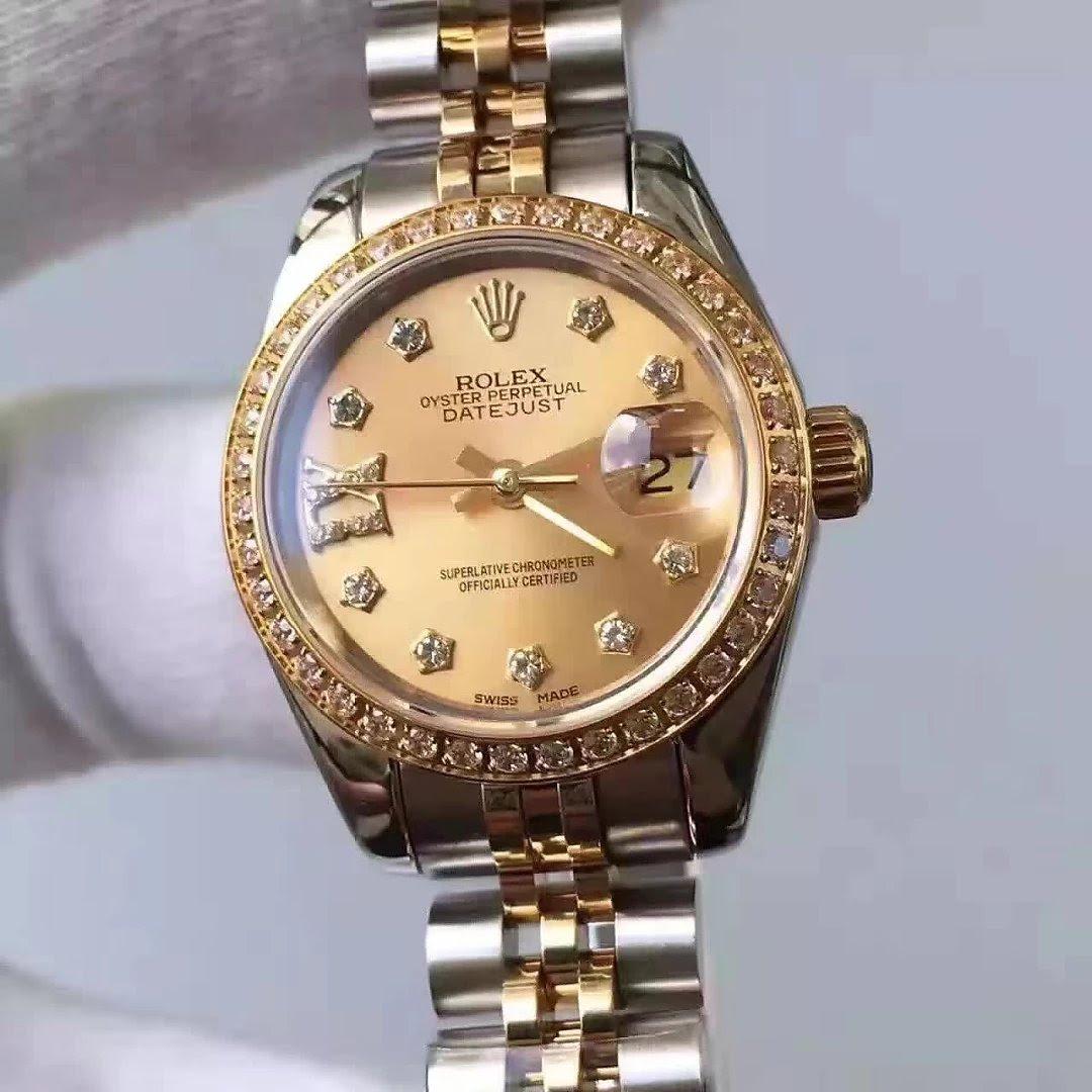 Golden Datejust Rolex 33mm