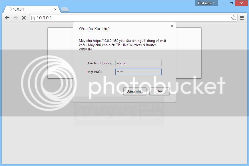 Đăng nhập vào trang quản lý Router
