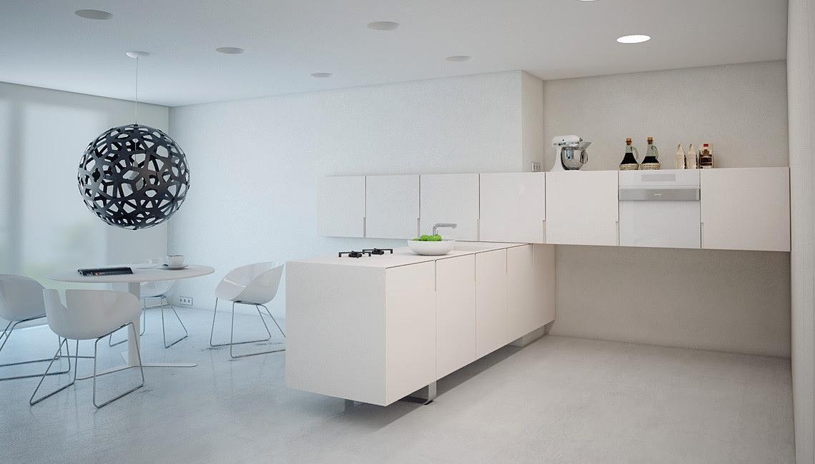 minimalist white kitchen Interior Design Ideas