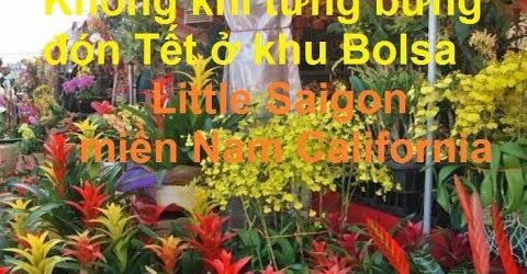 Không khí nhộn nhịp tưng bừng đón Tết ở khu Bolsa Little Saigon Westminster