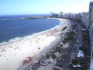 English: Copacabana Beach, Rio de Janeiro, Bra...