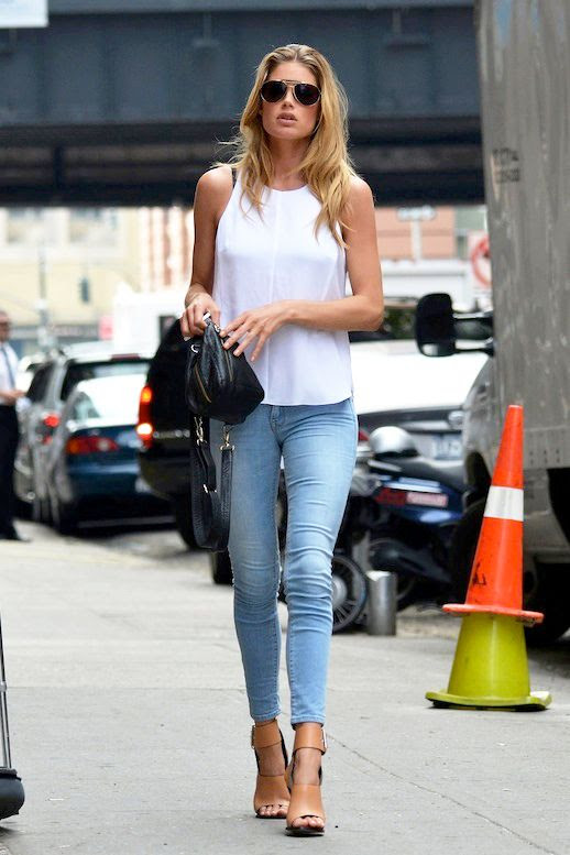 Le Fashion Blog Model Off Duty Doutzen Kroes Sexy Summer Casual Aviators Tank Top Cropped Skinny Jeans Celine Sandals New York City Street Style photo Le-Fashion-Blog-Model-Off-Duty-Doutzen-Kroes-Sexy-Summer-Casual-Aviators-Tank-Top-Skinny-Jeans-Celine-Sandals.jpg