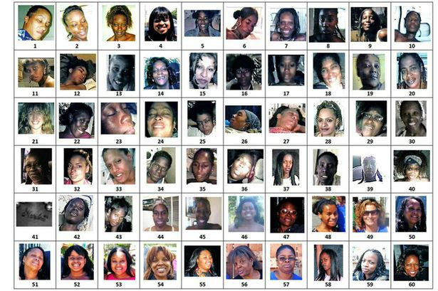 Photographs of 180 women that were seized from the home of Lonnie David Franklin Jr. Pictured - Images 1-60