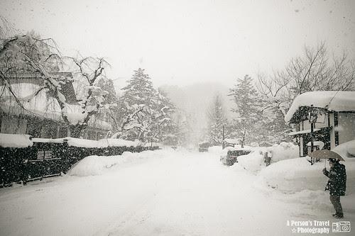 大雪紛飛的角館