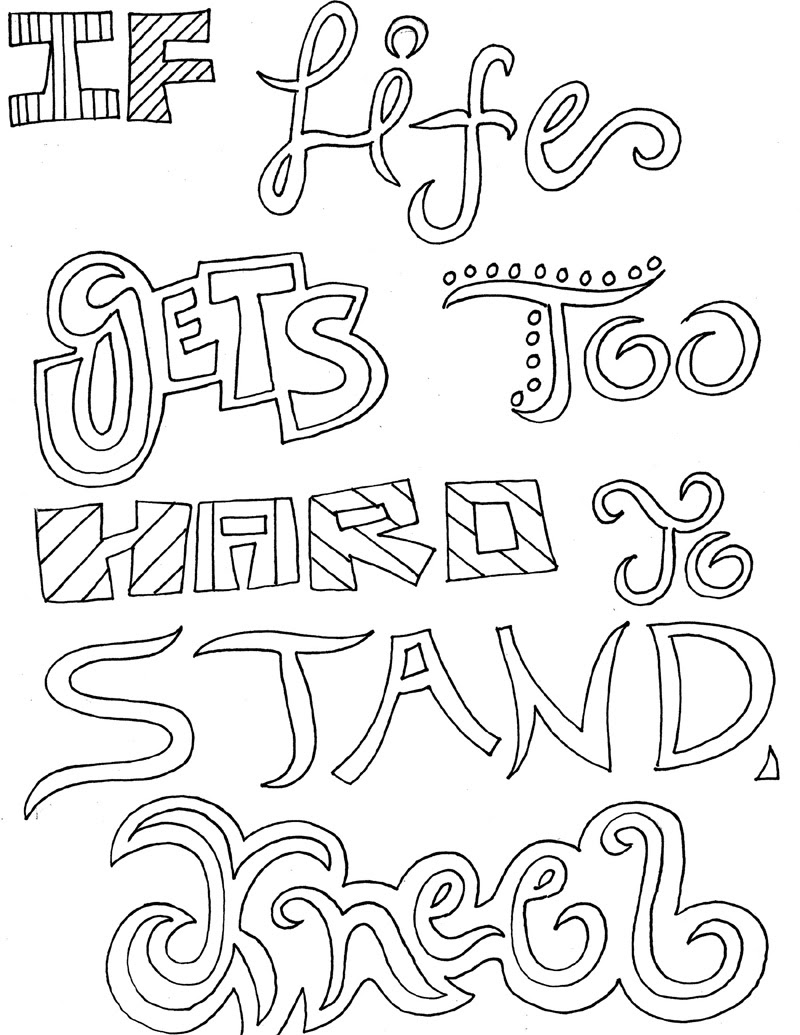 - Inspirational Quotes Coloring Pages For Adults 3 Quotes