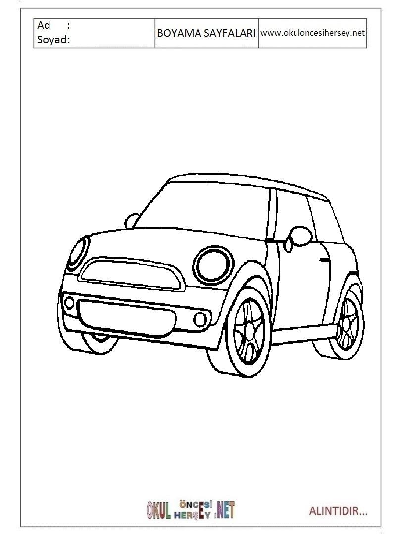 Mini Cooper Boyama Sayfaları