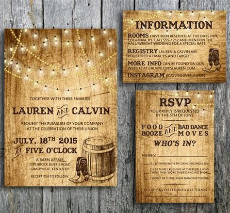 Love this Country Western themed wedding invitation set