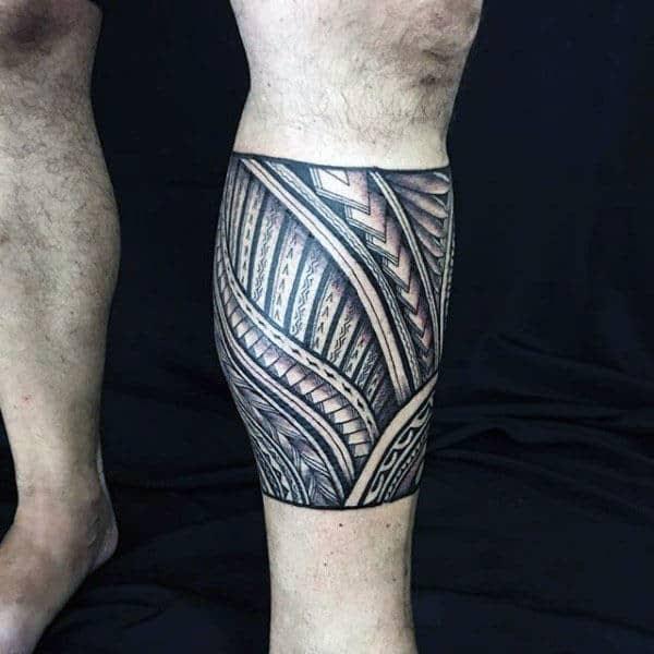 Tribal Tattoo For Leg