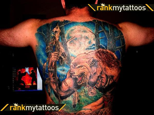 Another massive colored tattoo that instantly caught my eye.