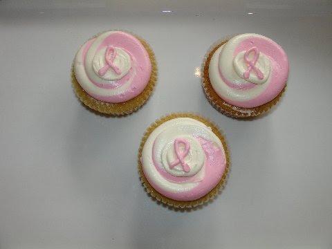 Pink ribbon cupcakes from Swirlz Cupcakes