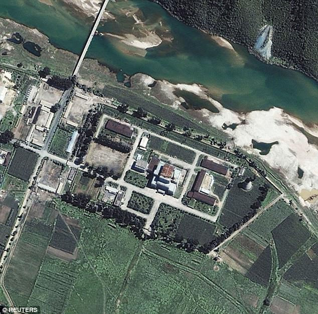 An aerial shot of the nuclear complex which is said to be constantly growing their capabilities of developing weapons