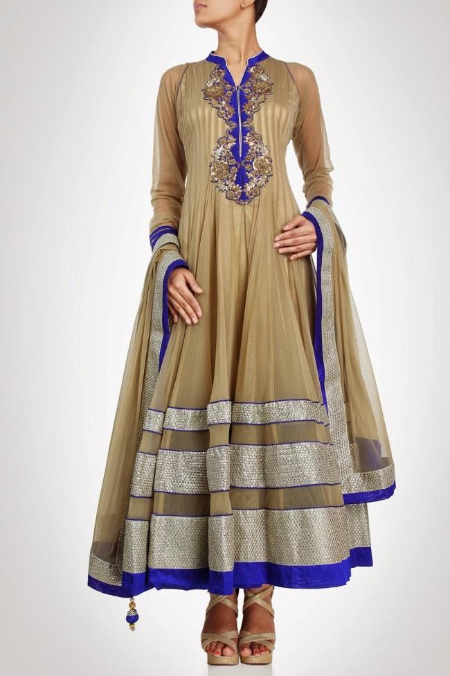 Beautiful-Gorgeous-Wedding-Bridal-Anarkali-Frock-Dresses-for-Girls-Fashion-by-Designer-Kiran-&-Shruti-Aksh-8