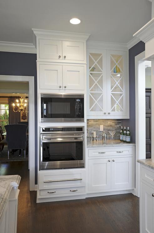 Alpine White Granite Countertop, Transitional, kitchen, Sherwin Williams SW6243 Distance, J.S. Brown & Co.