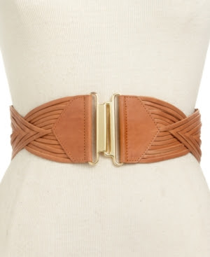 Vince Camuto Woven Stretch Interlock Belt
