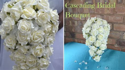 How to create your own cascading bridal bouquet : DIY