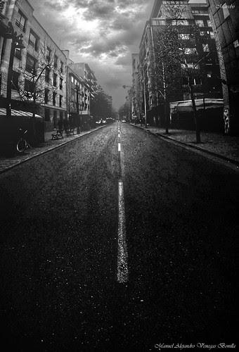 Santiago de Chile, calle Merced, desolada by Alejandro Bonilla