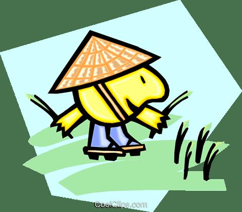 中国の米ピッカー ロイヤリティ無料ベクタークリップアートイラスト