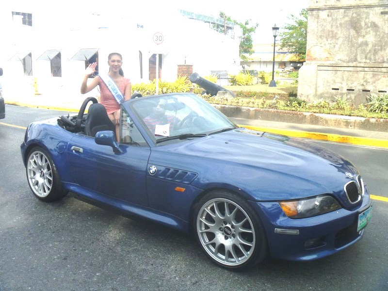 BMW Convertible with Ms. Tourism International Angeli Dione Gomez