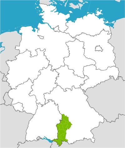 Schwaben Karte.Schwaben Karte Deutschland Karte