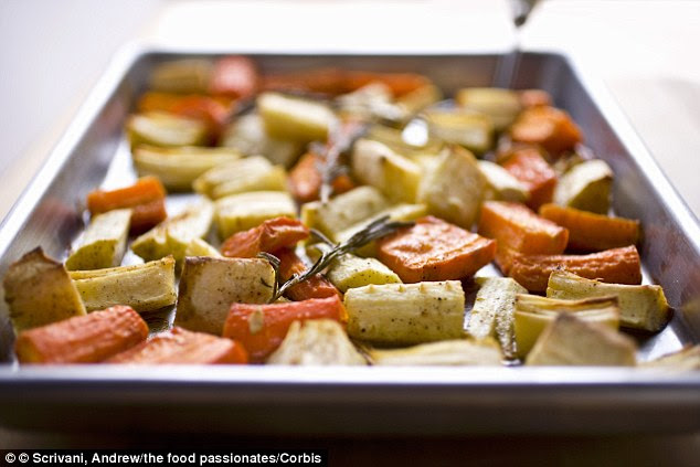 Natural selection: Root vegetables are also part of the plan, which calls for vegetarian dinners twice a week