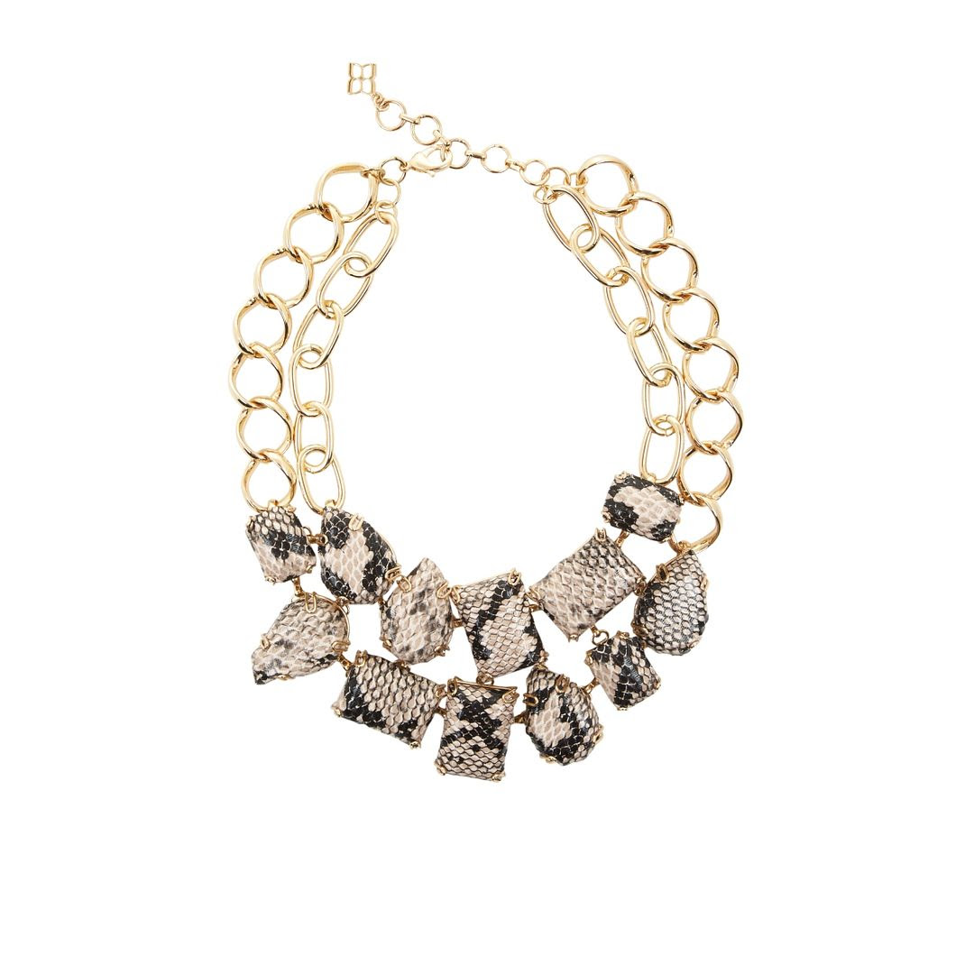 BCBGMAXAZRIA Snake Print Necklace