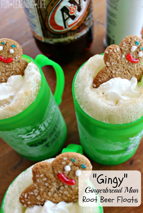 Gingerbread Man Root Beer Floats Photo