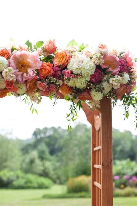 Floral wedding, Arbors and Peaches on Pinterest