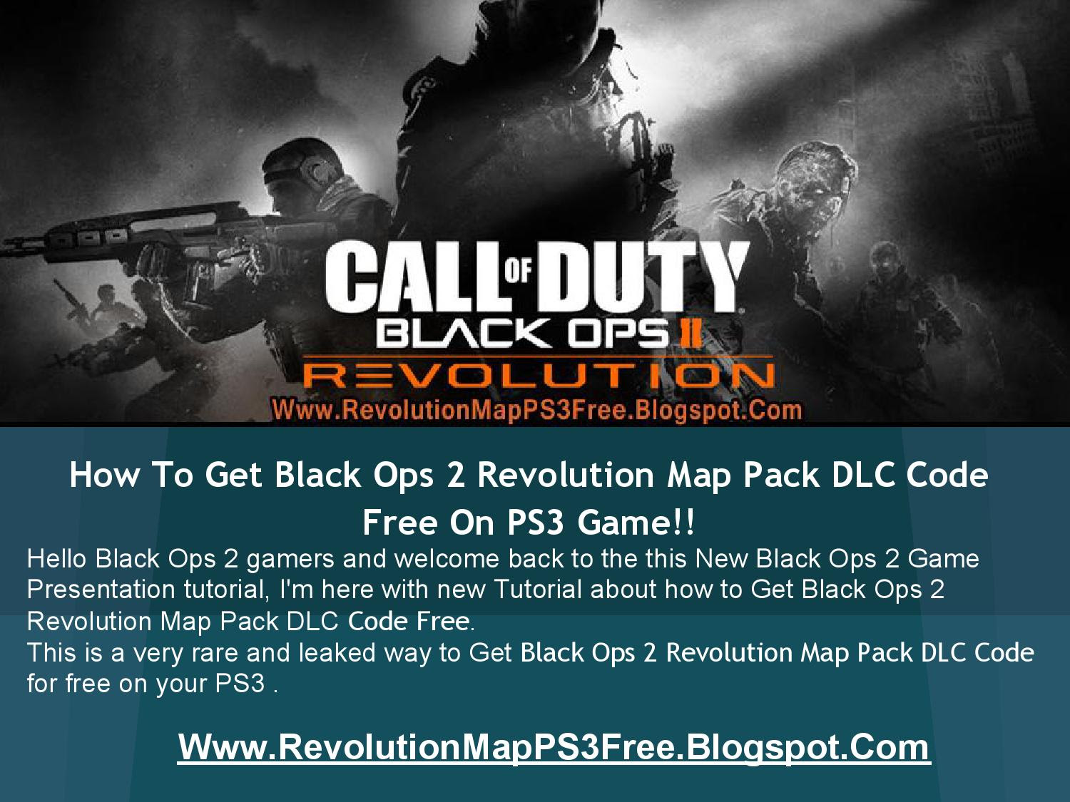 Call Of Duty Black Ops 2 Revolution Map Pack Dlc Codes