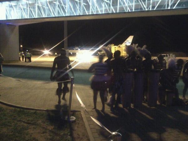 KLM 593 departing Harare for Lusaka/Amsterdam