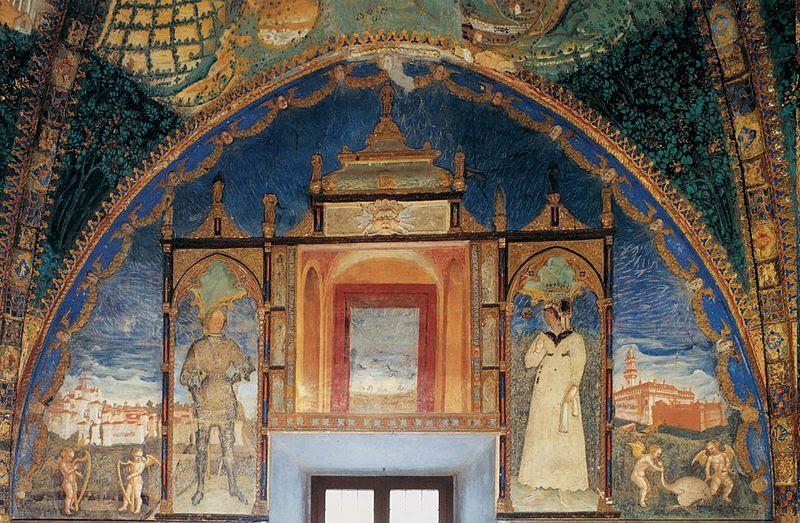 File:Benedetto Bembo, Castello di Torrechiara, Golden Room 02, Pier Maria Rossi and Bianca Pellegrini.jpg