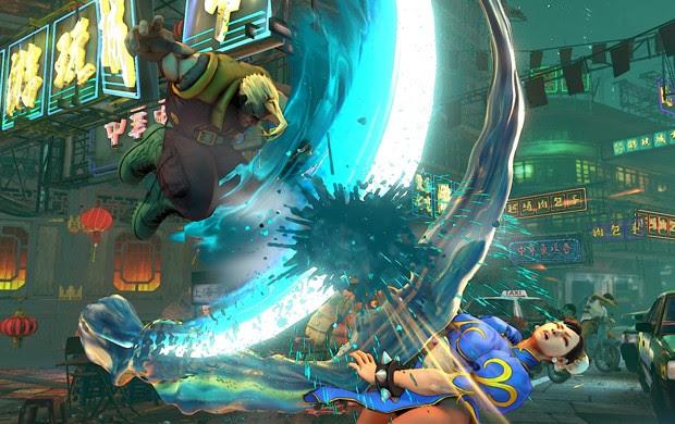 Charlie E considerado o criador do Sonic Boom, Famoso golpe de Guile.  Na cena, ELE Luta contra Chun-Li em 'Street Fighter V' (Foto: Divulgação / Capcom)