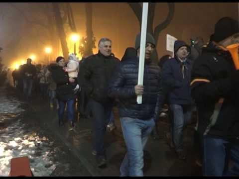 VIDEO Protest la Suceava, luni, 6 februarie 2017