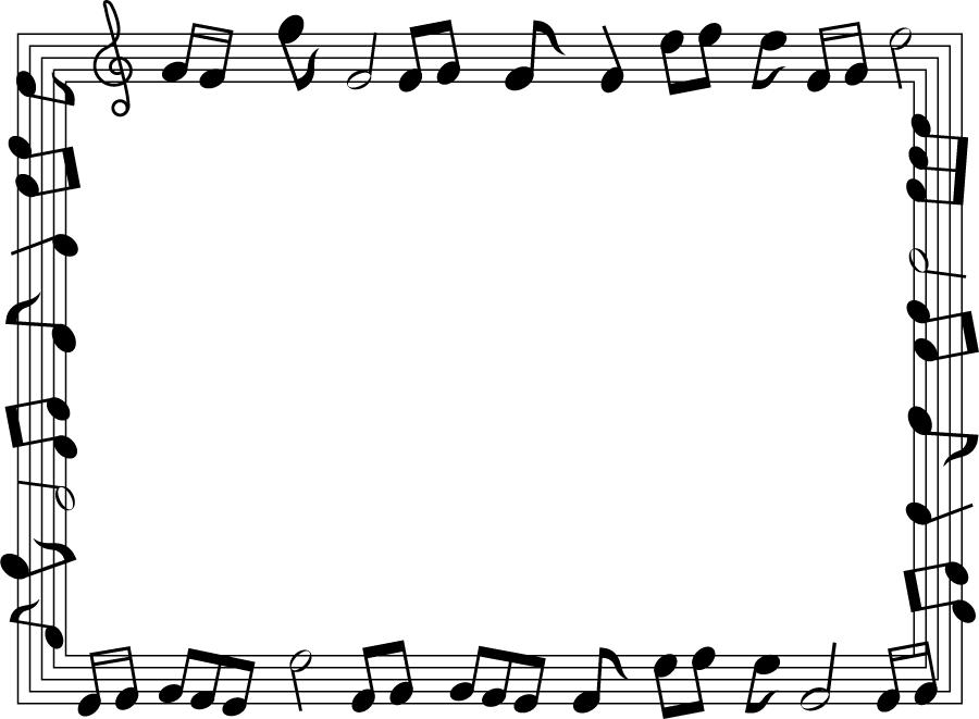 フリーイラスト 楽譜のフレームでアハ体験 Gahag 著作権フリー写真