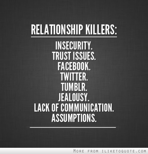Relationship Killers Insecurity Trust Issues Facebook Twitter