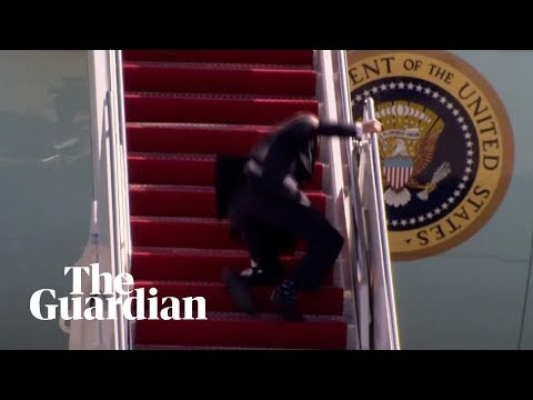 Video: Joe Biden stumbles on steps of Air Force One