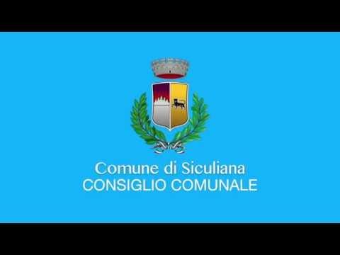 Siculiana, Video Consiglio Comunale del 16 Ottobre 2019