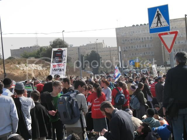 Sderot Protests in Jerusalem 1