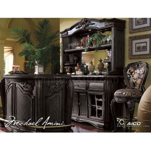 Office Bar Furniture: Home Office Furniture: Oppulente Bar Set (Regal Black) By