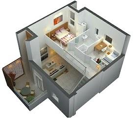 Sketsa Rumah 2 Kamar