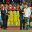Richard Dunne, Republic of Ireland, is attended to by team physio Ciaran Murray during the game. EURO 2012 Championship Qualifier, Russia v Republic of Ireland, Luzhniki Stadium, Moscow, Russia. Picture credit: David Maher / SPORTSFILE