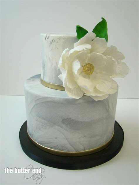 Grey marble birthday cake with signature white sugar