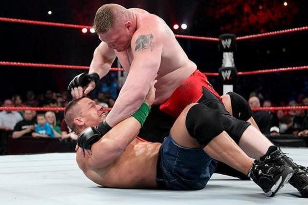 Gimmick walki Johna Ceny z Brockiem Lesnarem podczas SummerSlam