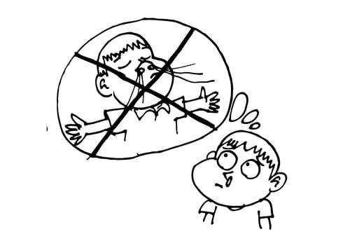 Dibujos para colorear sobre la influenza
