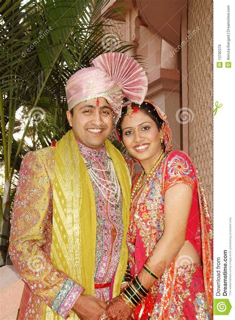 Indian Married Couple stock image. Image of expression