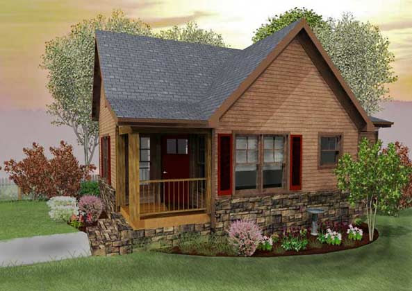 Small Cabin Designs with Loft   Small Cabin Floor Plans