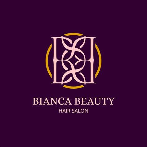 bianca beauty hair salon logo design maker