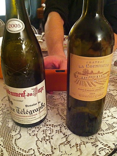 Two of the many wines sampled
