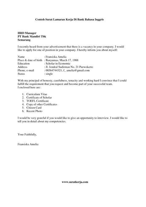 Application Letter Pelaut on