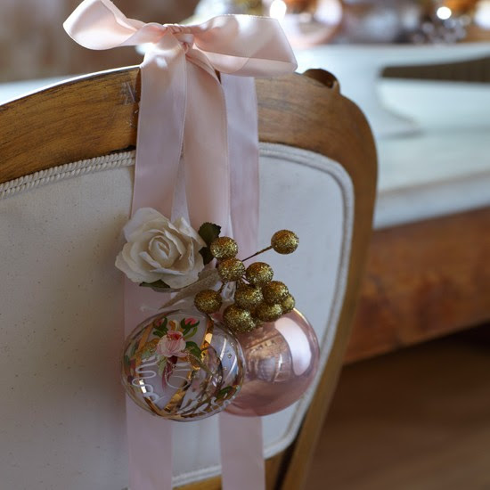 Chair decorations | Country-style Christmas table ideas | Christmas table settings | Chair | Country Homes & Interiors